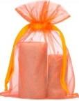 Large organza bags 20x28cm orange