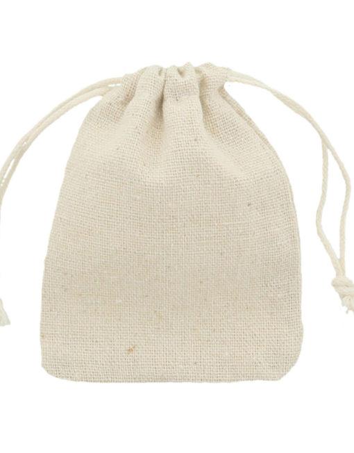 Linen-Cotton bag 7,5x10cm 2.0