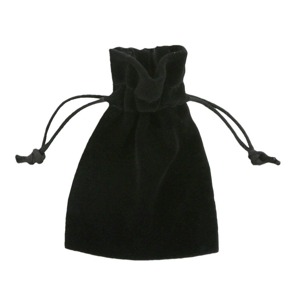 Velvet pouches black 7,5x10cm
