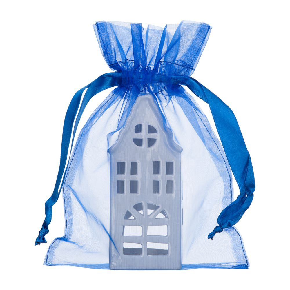 large organza bag 20x28cm blue 2.0