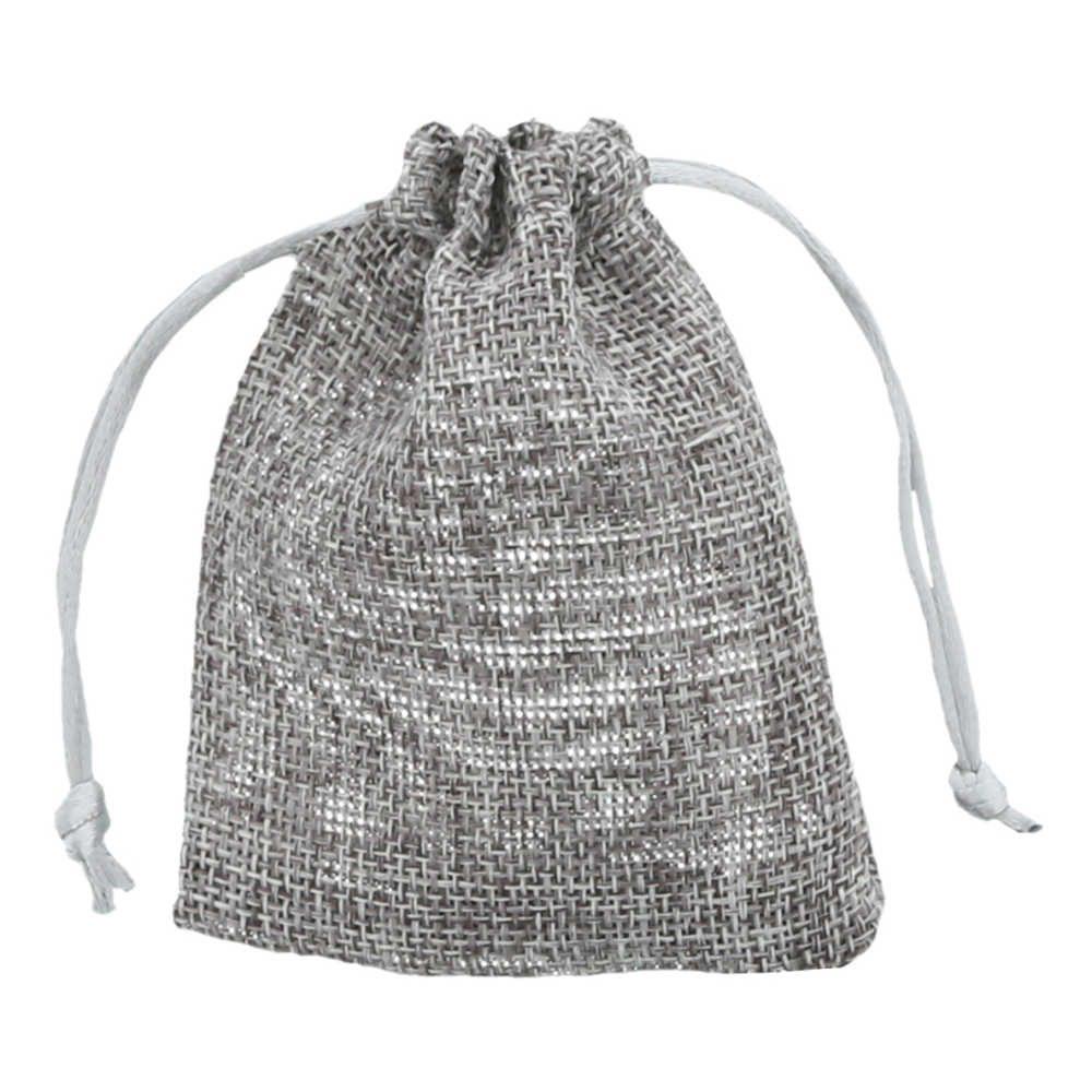 mini jute bag 7,5x10cm anthracite