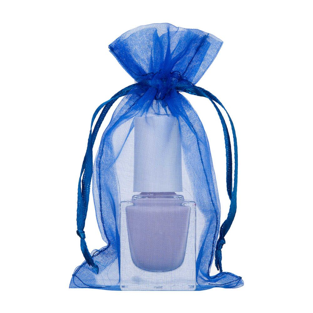 mini organza bag 7x12cm royal blue 2.0