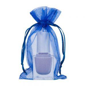 mini organza bag 7x12cm royal blue 2.0