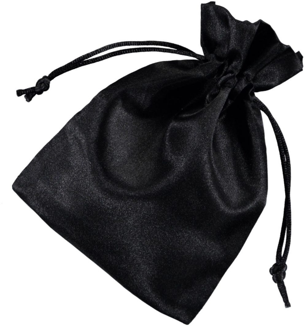 satin drawstring bags black 10x15cm 2.0