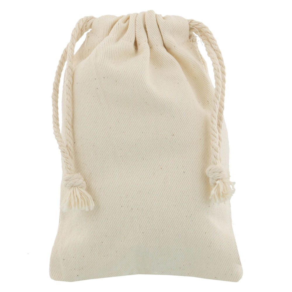 small cotton drawstring bag 10x15cm
