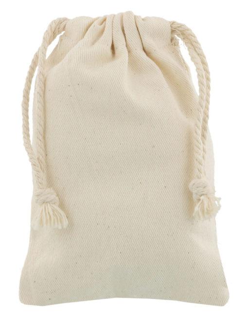 small cotton drawstring bag 10x15cm