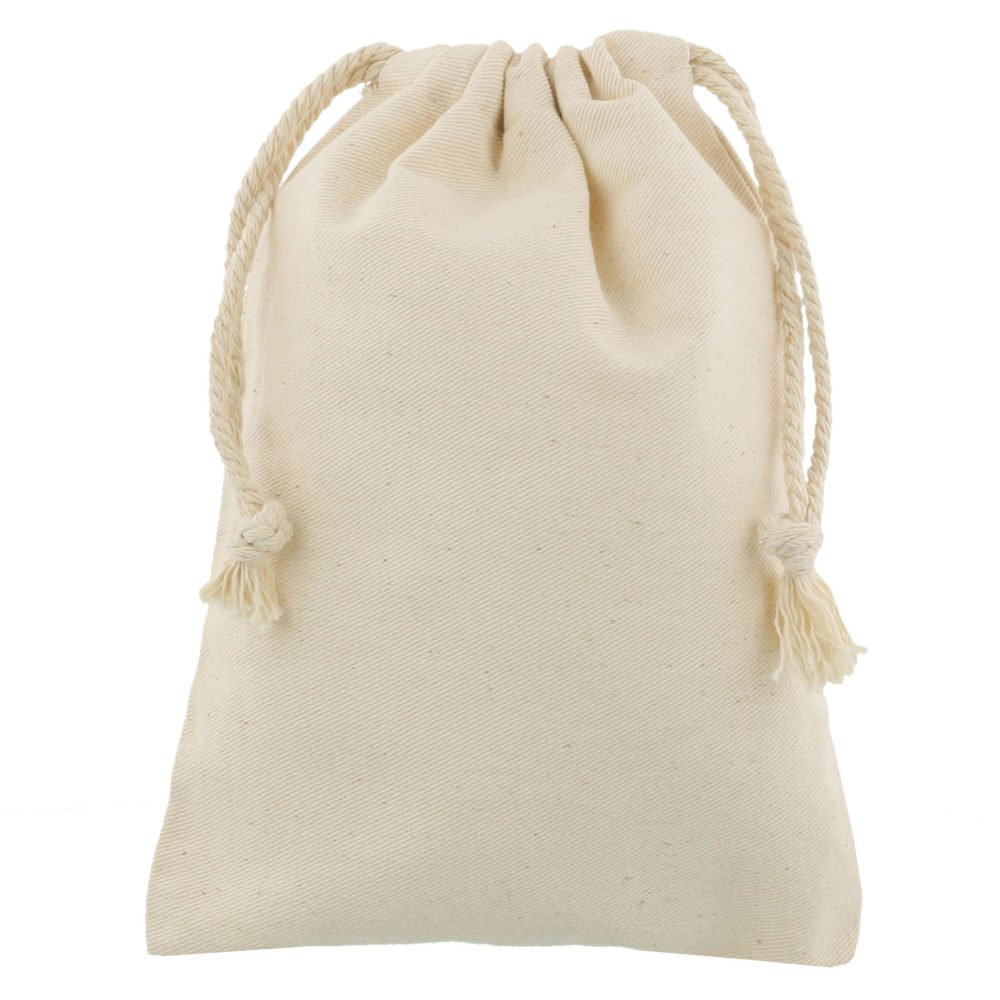 small cotton drawstring bag 15x20cm