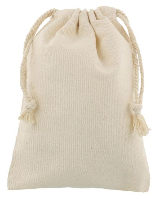 small cotton drawstring bag 15x20cm