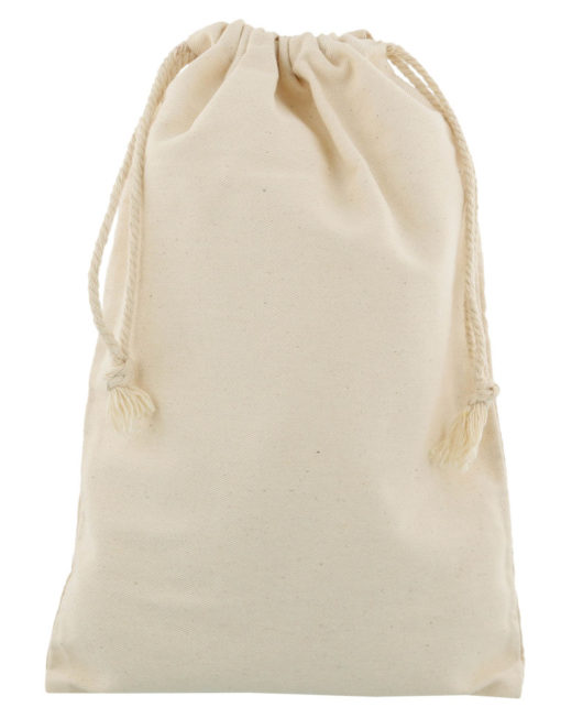 small cotton drawstring bag 20x30cm