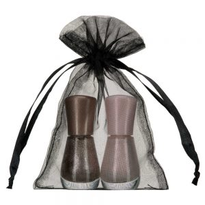 small organza bag 10x15cm black 2.0