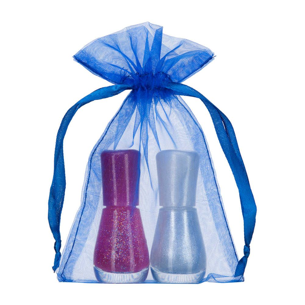 small organza bag 10x15cm royal blue