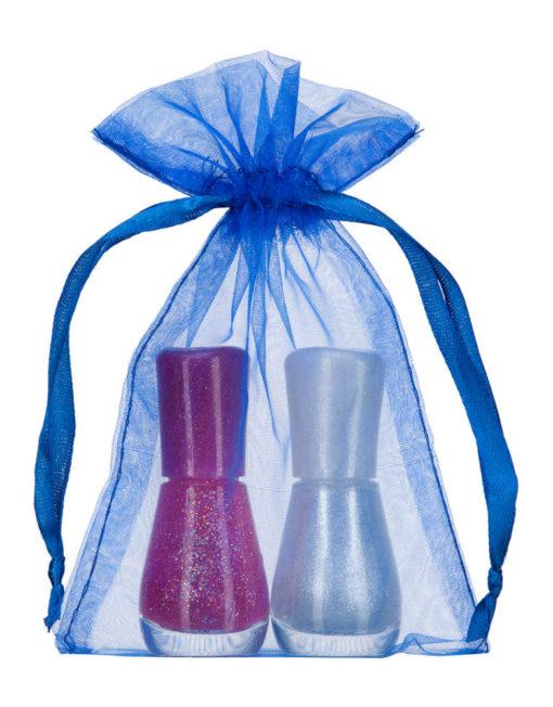 small organza bag 10x15cm royal blue