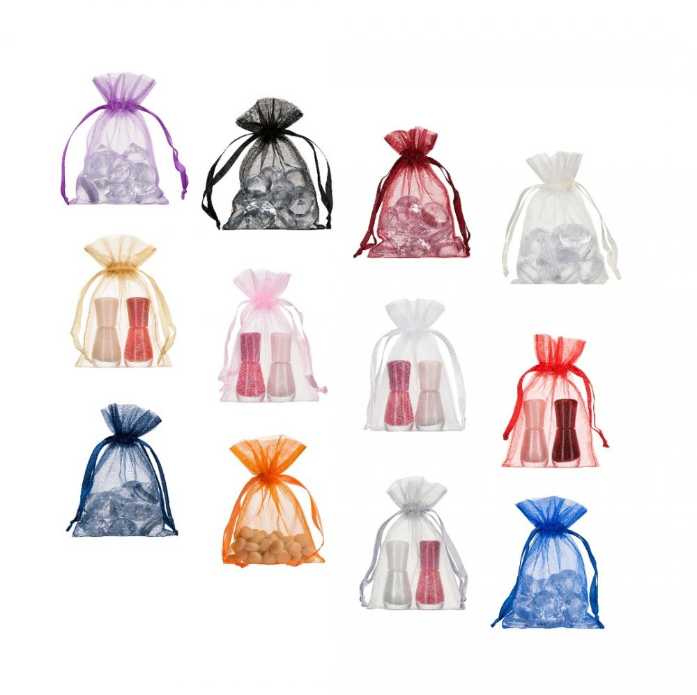 small organza bags 10x15cm various colours