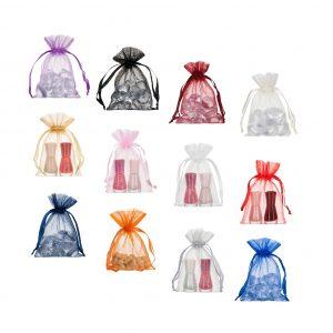 small organza bags 10x15cm various colours