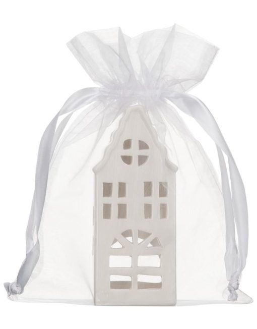 large organza bag 20x28cm white