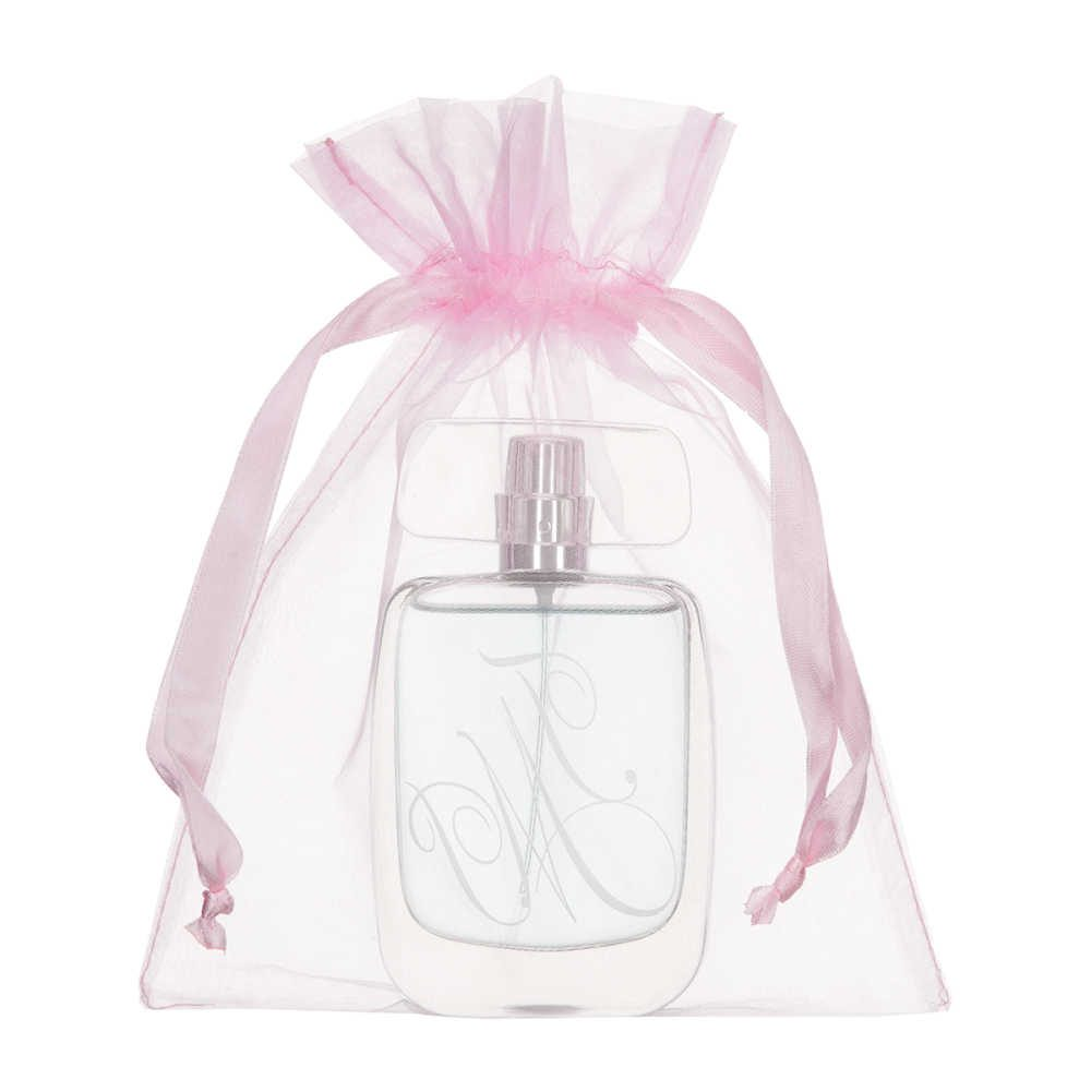 medium organza bag 15x20cm light pink