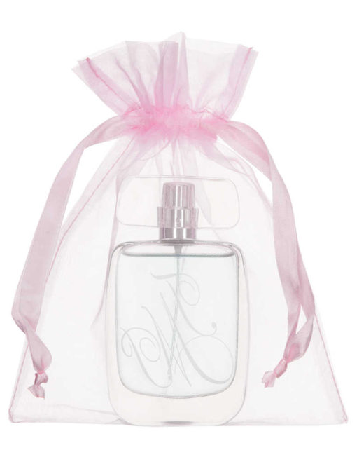 medium organza bag 15x20cm light pink