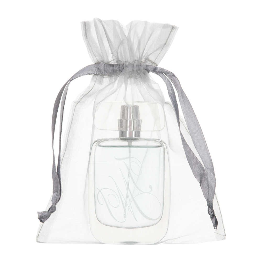medium organza bag 15x20cm silver