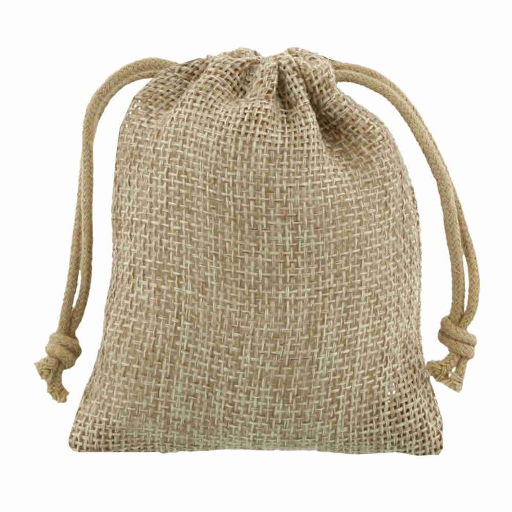 mini jute bag 7,5x10cm natural