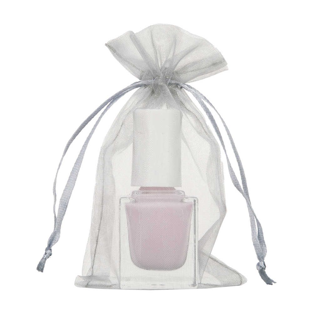 mini organza bag 7x12cm silver 2.0