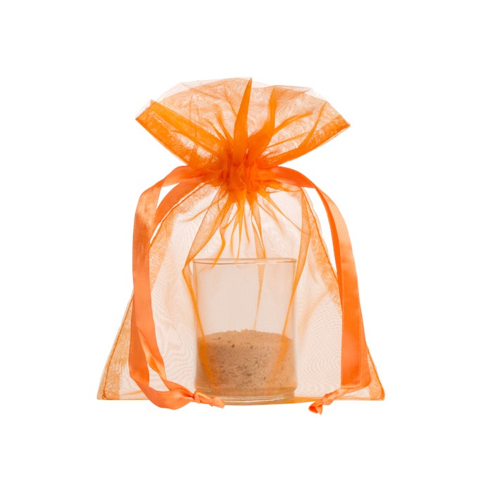 organza bag 10x15cm orange