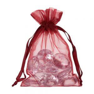 small organza bag 10x15cm bordeaux red