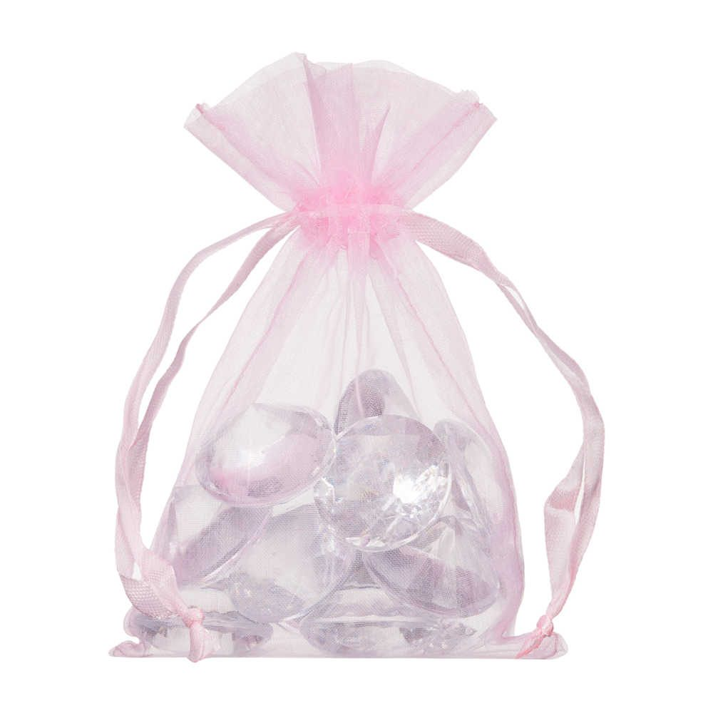 small organza bag 10x15cm light pink