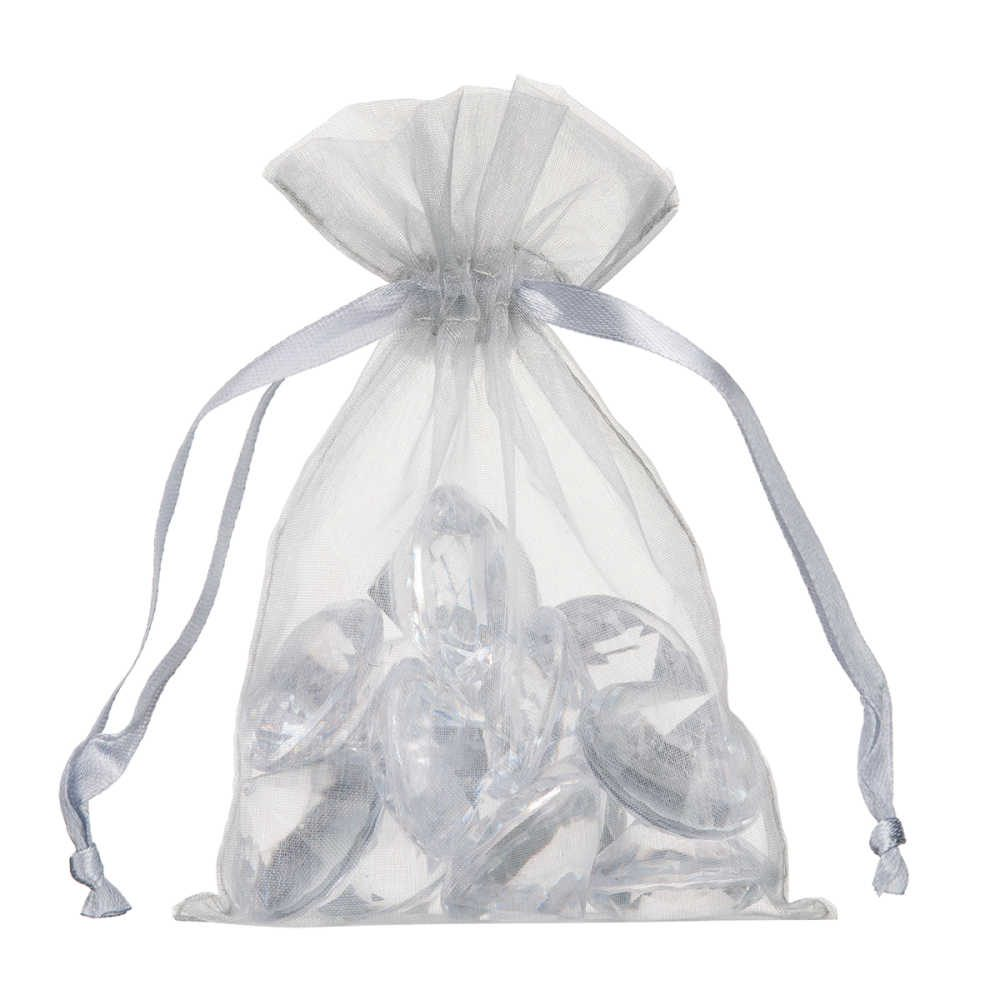 small organza bag 10x15cm silver