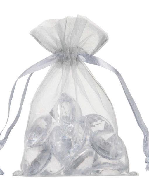 small organza bag 10x15cm silver