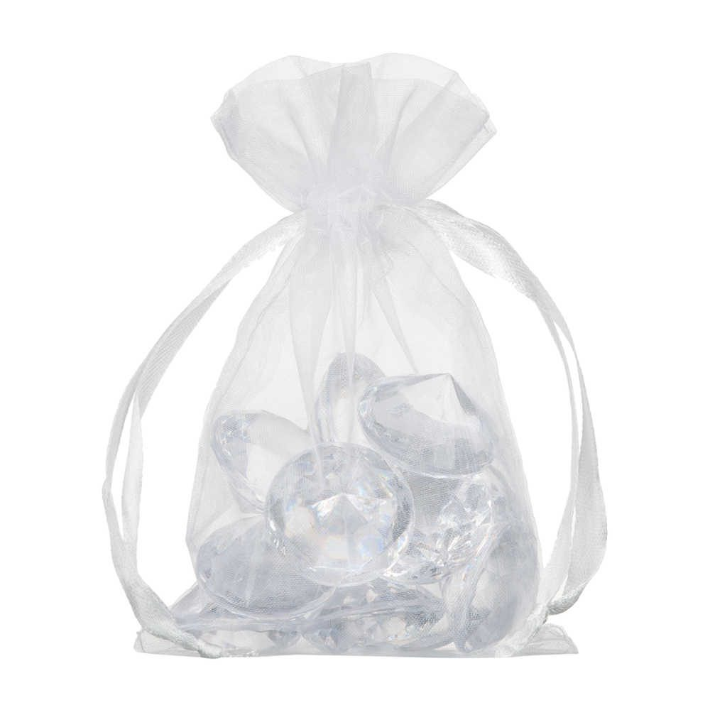 small organza bag 10x15cm white