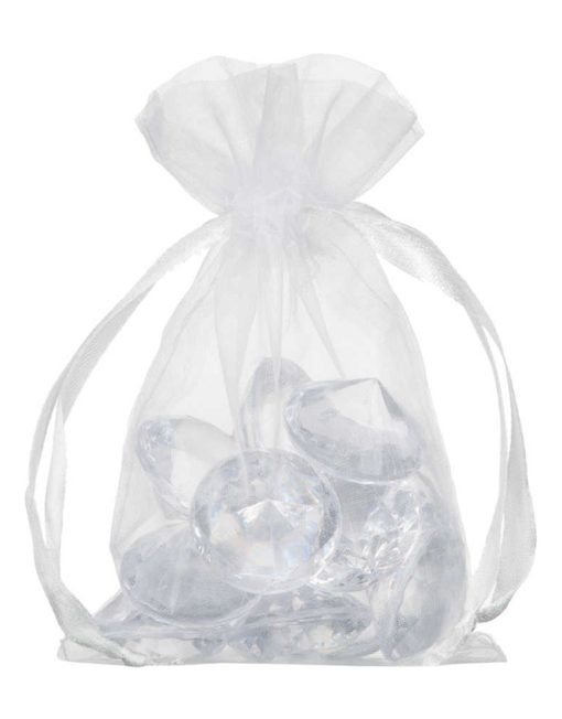 small organza bag 10x15cm white