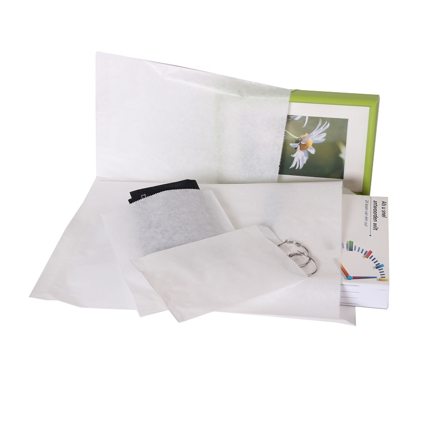 1000 pieces Small White Paper Bags Choose from multiple sizes (3)