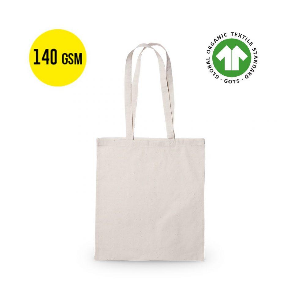 50 pieces Cotton Ecological Carrier Bag 140 grams Quality, Size 37x41cm