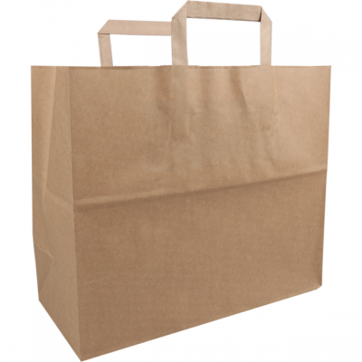 250 pieces FSC Paper Bags Flat Handle Brown