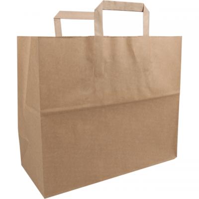 250 pieces FSC Paper Bags Flat Handle Brown